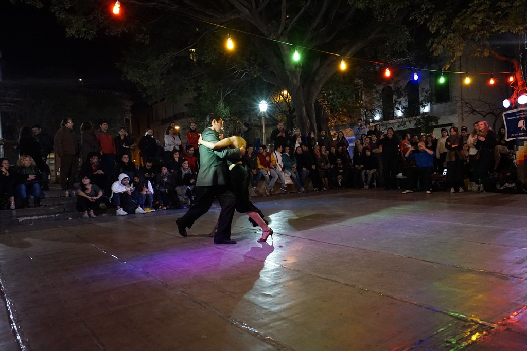 Plaza Dorrego, where we take you to experience in-the-streets tango. Tango Vacation Buenos Aires