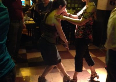 My philosophy is: jump right in! Alana in her first class at our welcome dinner. Tango Vacation Buenos Aires